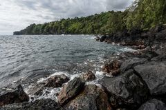 Σημείο Laupahoehoe, μεγάλο νησί, Χαβάη Στοκ φωτογραφία με δικαίωμα ελεύθερης χρήσης