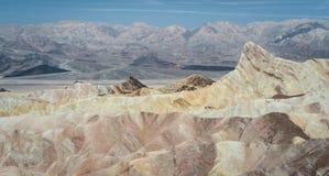 Σημείο Zabriskie, κοιλάδα θανάτου, Καλιφόρνια, ΗΠΑ Στοκ φωτογραφία με δικαίωμα ελεύθερης χρήσης