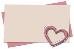 σημείωση αγάπης Στοκ φωτογραφίες με δικαίωμα ελεύθερης χρήσης