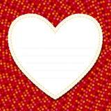 Σημείωση αγάπης Στοκ Εικόνες