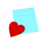 Σημείωση αγάπης Στοκ Εικόνα