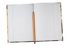 σημείωση βιβλίων ανοικτή Στοκ Φωτογραφία
