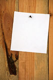 Σημείωση για την ξύλινη ανασκόπηση Στοκ εικόνα με δικαίωμα ελεύθερης χρήσης
