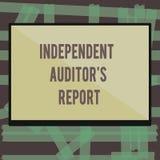 Σημείωση γραψίματος που παρουσιάζει ανεξάρτητη έκθεση IS ελεγκτών s Η επίδειξη επιχειρησιακών φωτογραφιών αναλύει τη λογιστική κα διανυσματική απεικόνιση