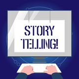Σημείωση γραψίματος που παρουσιάζει αφήγηση ιστορίας Ιστορίες γραψίματος δραστηριότητας επίδειξης επιχειρησιακών φωτογραφιών για  διανυσματική απεικόνιση