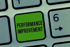 Σημείωση γραψίματος που παρουσιάζει βελτίωση απόδοσης Το μέτρο επίδειξης επιχειρησιακών φωτογραφιών και τροποποιεί την παραγωγή γ στοκ φωτογραφία με δικαίωμα ελεύθερης χρήσης