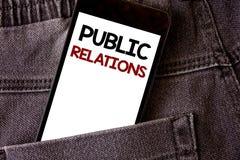 Σημείωση γραψίματος που παρουσιάζει δημόσιες σχέσεις Κοινωνικές λέξεις δημοσιότητας πληροφοριών ανθρώπων μέσων επικοινωνίας επίδε Στοκ φωτογραφίες με δικαίωμα ελεύθερης χρήσης
