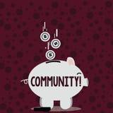 Σημείωση γραψίματος που παρουσιάζει Κοινότητα Ενότητα συμμαχίας κρατικών συνεταιρισμών ένωσης γειτονιάς επίδειξης επιχειρησιακών  διανυσματική απεικόνιση