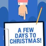 Σημείωση γραψίματος που παρουσιάζει μερικές ημέρες στα Χριστούγεννα Αρίθμηση επίδειξης επιχειρησιακών φωτογραφιών κάτω στο χειμερ ελεύθερη απεικόνιση δικαιώματος
