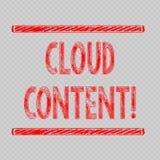 Σημείωση γραψίματος που παρουσιάζει περιεκτικότητα σε σύννεφα Επιχειρησιακή φωτογραφία που επιδεικνύει την αυτόνομη πλατφόρμα ή π ελεύθερη απεικόνιση δικαιώματος