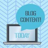 Σημείωση γραψίματος που παρουσιάζει περιεκτικότητα σε Blog Θέσεις επίδειξης επιχειρησιακών φωτογραφιών σε μια συνεχή ρέοντας σελί απεικόνιση αποθεμάτων