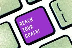 Σημείωση γραψίματος που παρουσιάζει στην προσιτότητα στόχους σας Η επίδειξη επιχειρησιακών φωτογραφιών επιτυγχάνει τι θελήσατε γι στοκ εικόνες