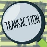 Σημείωση γραψίματος που παρουσιάζει συναλλαγή Περίπτωση επίδειξης επιχειρησιακών φωτογραφιών αγοράς ή πώλησης κάτι ανταλλαγή συμφ διανυσματική απεικόνιση