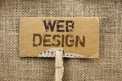 Σημείωση γραψίματος που παρουσιάζει σχέδιο Ιστού Απαντητικό wri ναυσιπλοΐας σκίτσων Webpage Webdesign προτύπων σχεδιαγράμματος Ισ Στοκ Εικόνες