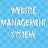 Σημείωση γραψίματος που παρουσιάζει σύστημα διαχείρισης ιστοχώρου Τρόπος επίδειξης επιχειρησιακών φωτογραφιών στις ψηφιακές πληρο ελεύθερη απεικόνιση δικαιώματος