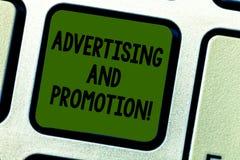 Σημείωση γραψίματος που παρουσιάζει τη διαφήμιση και προώθηση Ενέργειες επίδειξης επιχειρησιακών φωτογραφιών να υποκινηθούν οι πε στοκ εικόνες με δικαίωμα ελεύθερης χρήσης