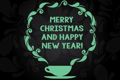Σημείωση γραψίματος που παρουσιάζει τη Χαρούμενα Χριστούγεννα και καλή χρονιά Εορτασμοί χαιρετισμών περιόδου διακοπών επίδειξης ε απεικόνιση αποθεμάτων