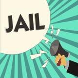 Σημείωση γραψίματος που παρουσιάζει φυλακή Θέση επίδειξης επιχειρησιακών φωτογραφιών για τον περιορισμό των ανθρώπων που κατηγορο ελεύθερη απεικόνιση δικαιώματος