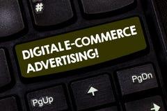 Σημείωση γραψίματος που παρουσιάζει ψηφιακή διαφήμιση ηλεκτρονικού εμπορίου Εμπορικές συναλλαγές επίδειξης επιχειρησιακών φωτογρα στοκ φωτογραφία