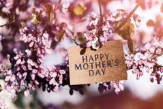 Σημείωση ημέρας μητέρων ` s Στοκ Εικόνα