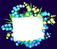 Σημείωση και λουλούδια Στοκ Εικόνα