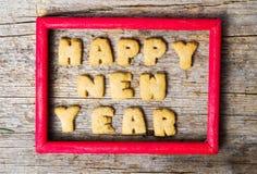 Σημείωση καλής χρονιάς σε ένα πλαίσιο Στοκ Εικόνες