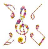 σημείωση λουλουδιών Στοκ Εικόνες