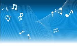 σημείωση μουσικής ανασκ Στοκ φωτογραφία με δικαίωμα ελεύθερης χρήσης