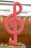 Σημείωση μουσικής μπαλονιών Στοκ φωτογραφία με δικαίωμα ελεύθερης χρήσης