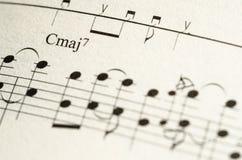 Σημείωση μουσικής φύλλων Στοκ φωτογραφία με δικαίωμα ελεύθερης χρήσης