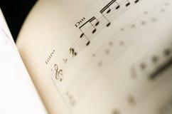 Σημείωση μουσικής φύλλων Στοκ εικόνα με δικαίωμα ελεύθερης χρήσης