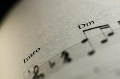 Σημείωση μουσικής φύλλων Στοκ Φωτογραφία