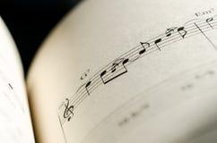 Σημείωση μουσικής φύλλων Στοκ Φωτογραφίες