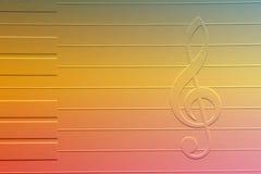 σημείωση μουσικής Στοκ εικόνα με δικαίωμα ελεύθερης χρήσης