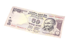 Σημείωση πενήντα ρουπίων (ινδικό νόμισμα) Στοκ Φωτογραφίες