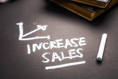 Σημείωση πωλήσεων αύξησης στοκ φωτογραφίες με δικαίωμα ελεύθερης χρήσης