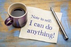 Σημείωση σε μόνο: Μπορώ να κάνω τίποτα! στοκ εικόνα με δικαίωμα ελεύθερης χρήσης