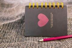 Σημείωση της ημέρας Valentine's Στοκ Φωτογραφία
