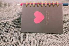 Σημείωση της ημέρας Valentine's Στοκ εικόνα με δικαίωμα ελεύθερης χρήσης