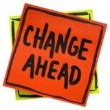 Σημείωση υπενθυμίσεων αλλαγής μπροστά στοκ εικόνα με δικαίωμα ελεύθερης χρήσης