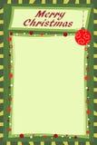 Σημείωση Χριστουγέννων Στοκ εικόνα με δικαίωμα ελεύθερης χρήσης