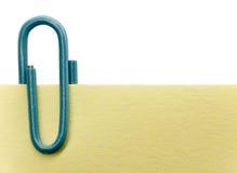 σημείωση paperclip Στοκ εικόνα με δικαίωμα ελεύθερης χρήσης