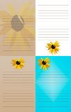 Σημειωματάρια ηλίανθων - σύνολο 4 στοκ εικόνες