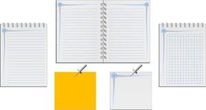 σημειωματάρια που τίθενται Στοκ Εικόνες