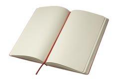 σημειωματάριο ανοικτό Στοκ φωτογραφίες με δικαίωμα ελεύθερης χρήσης