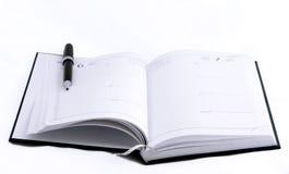 σημειωματάριο ανοικτό στοκ φωτογραφίες