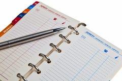 σημειωματάριο ατζεντών δ&iot στοκ φωτογραφία με δικαίωμα ελεύθερης χρήσης