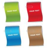 σημειωματάριο κάλυψης χρώματος Στοκ φωτογραφία με δικαίωμα ελεύθερης χρήσης