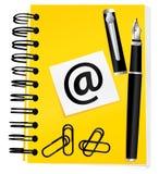 σημειωματάριο κίτρινο απεικόνιση αποθεμάτων