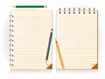 Σημειωματάριο και μολύβι Στοκ Εικόνες